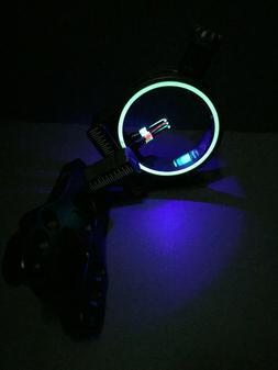 3 pin Fiber Optic archery sight with Blue LED light RH or LH