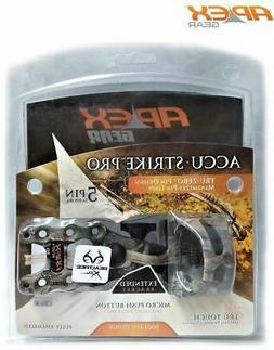 "Apex Gear Accu-Strike Pro 5-Pin  Sight .019"" W/Light Xtra"