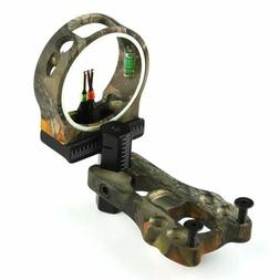 Archery 3 Pin Camo Fiber Optic Sight .029 Compound Bow Hunti
