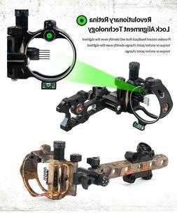 Archery 5/7 Pin Bow sights Retina Micro adjust Tool Less Des