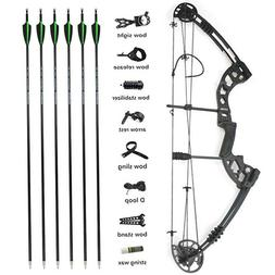 Archery Compound Bow Arrows Set 30-55lbs Release Aid Bow Sig