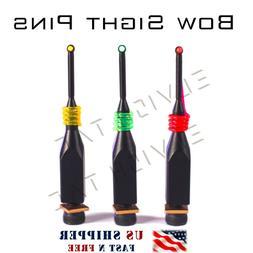 "Bow Sight Replacement Pin 3 Pins  0.029"" Fiber  CNC Brass"