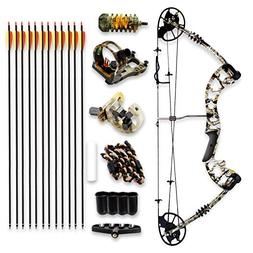 SereneLife Complete Compound Bow & Arrow Accessory Kit, Adju