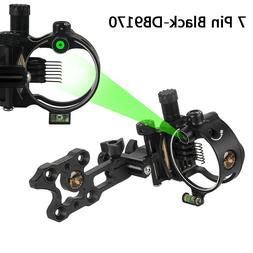 "Compound Bow Sight 5 Pin 7 Pin Micro Adjustable 0.019"" Arche"
