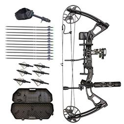 SAS Feud 70 Lbs Compound Bow Travel Package with Arrows, Har