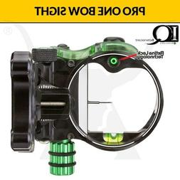 IQ Pro One Bow sight w/ Retina Lock - Single Pin - Black Rig