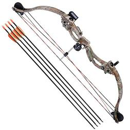 """Compound Bow 34"""" Junior Kit Draw Weight 20lbs Youth Archery"""