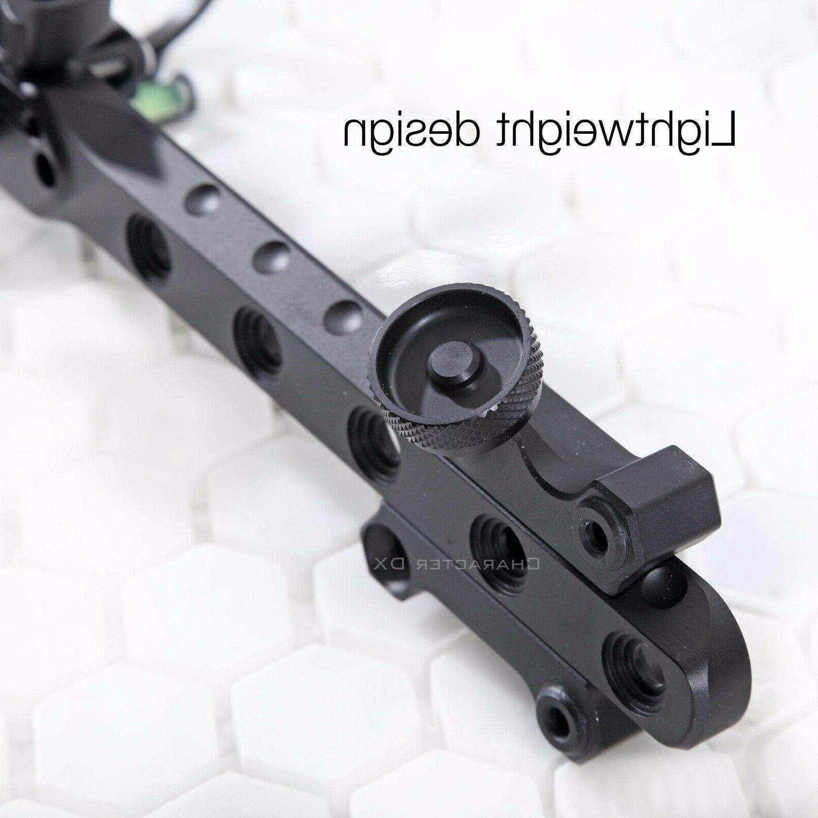 "5 7 Micro-Adjust Compound Bow .019"" Fiber LED Batteries Bow"
