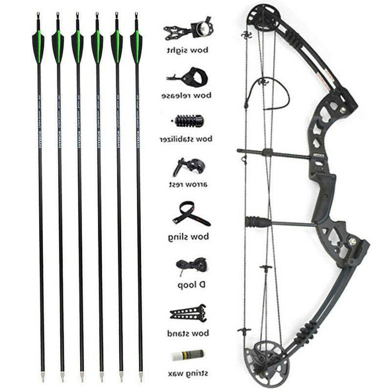 archery compound bow arrows set 30 55lbs