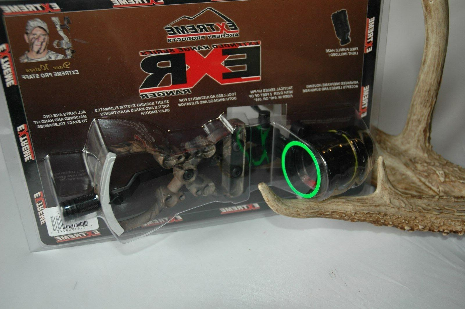 Extreme Archery Exr 1000 .015 1 Pin Sight With Light Lost Ca