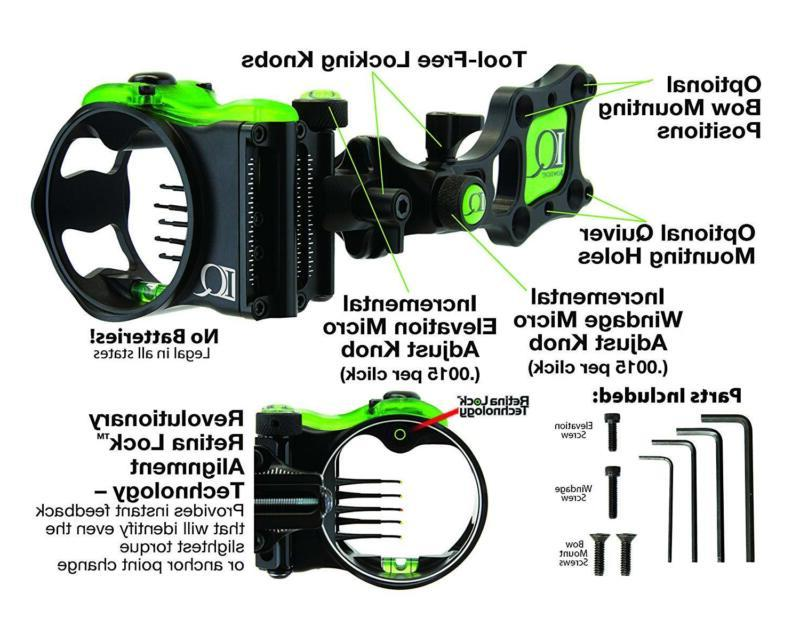 Field Logic Bowsights Micro 3, 7 Compound Bow Archery