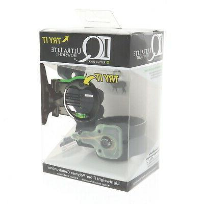 Field Logic IQ Ultralite 3 Pin Bow Sight, Left Hand