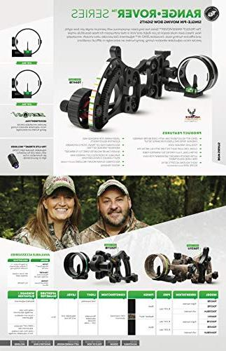 """TRUGLO RANGE-ROVER Moving Bow Right-Handed, .019"""" Pin, Micro-Adjustable"""