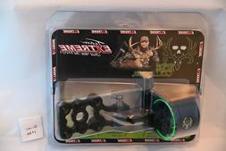 New Extreme Bone Collector 1100 Bow Sight Black 4  Pin w/ Li