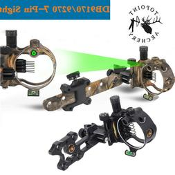 TOPOINT Archery Bow Sight 7-Pin.019 Micro Adjustable Optical